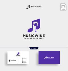 Music bar music club cafe logo template vector