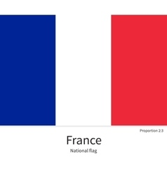 National flag of France with correct proportions vector