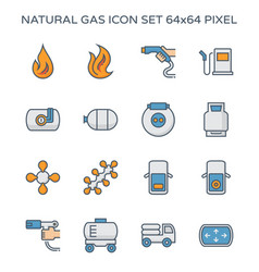 Natural gas icon vector