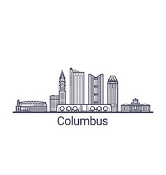 outline columbus banner vector image
