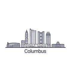 Outline columbus banner vector