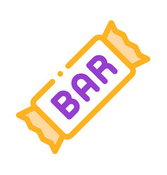 package bar energy food thin line icon vector image