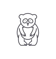 Panda bear line icon concept panda bear vector