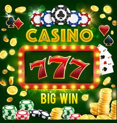 poker club roulette wheel casino gambling vector image
