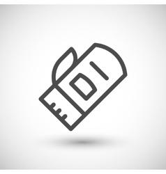 Protective mitten line icon vector