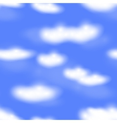 Seamless cloudy sky vector