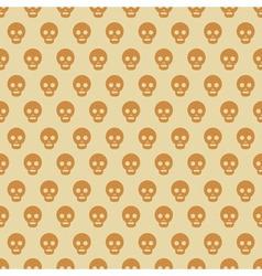 Seamless Halloween style skull pattern vector image
