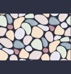 Seamless pattern with smooth pebble colorful vector