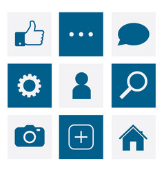 set of social network icons internet icons image vector image