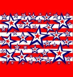 stars and stripes red white and blue background vector image