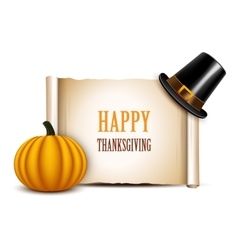 Thanksgiving card on a white background vector