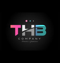 Thb t h b three letter logo icon design vector