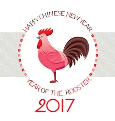 The Rooster On Circle Frame vector