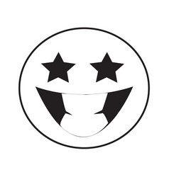 Thin line grin emoticon icon vector