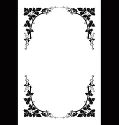 vector floral border vector image