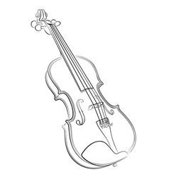 Violin sketch vector