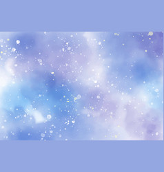 watercolor starry night abstract background eps10 vector image