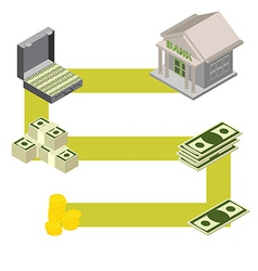 way to the Bank Isometric style vector image