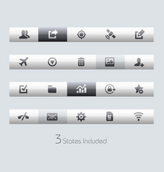 web and mobile 2 - toolbars vector image