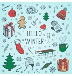 Welcome winter background vector