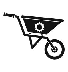 Wheelbarrow icon simple style vector image