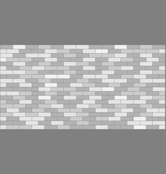 White grey brick wall texture vector