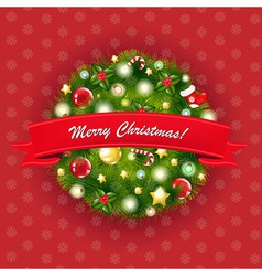 Xmas Vintage Composition vector image