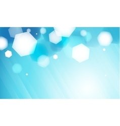 Abstract blue hexagon bokeh background vector image