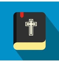 Bible single flat color icon vector image vector image