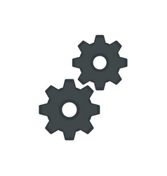 gear icon flat style vector image