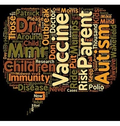 Misguided Parents Put Kids at Risk in Mumps vector image vector image