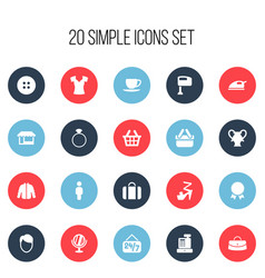Set of 20 editable business icons includes vector