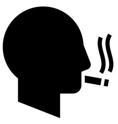 Smoking man icon vector image