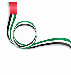 united arab emirates wavy flag background vector image