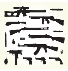 Army weapons vector image