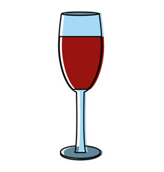 champagne cup drink vector image