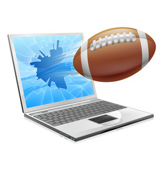 Football laptop concept vector