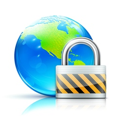 global security concept vector image vector image