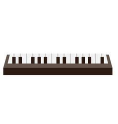 piano keyboard cartoon vector image