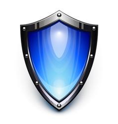 blue security shield vector image vector image