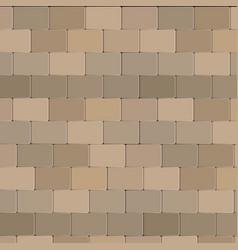 brick wall stone design in brown color vector image
