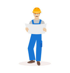 builder or construction superintendent in a helmet vector image