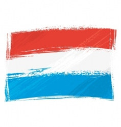 grunge Luxembourg flag vector image vector image