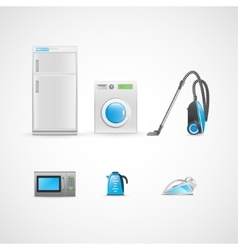 Household appliances vector