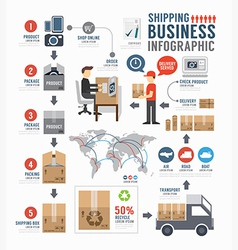 Infographic Shipping world Business template vector image vector image