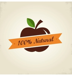 Organic food label tag and graphi element vector image