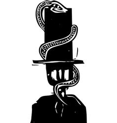 Snake hat vector