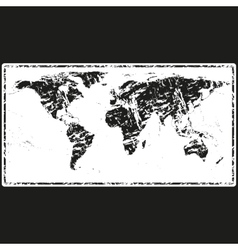 World Map Retro Stamp vector image vector image