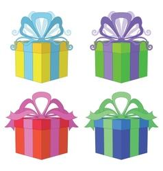 Gift box square set vector image