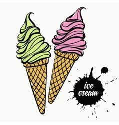 ice cream in a cup vector image